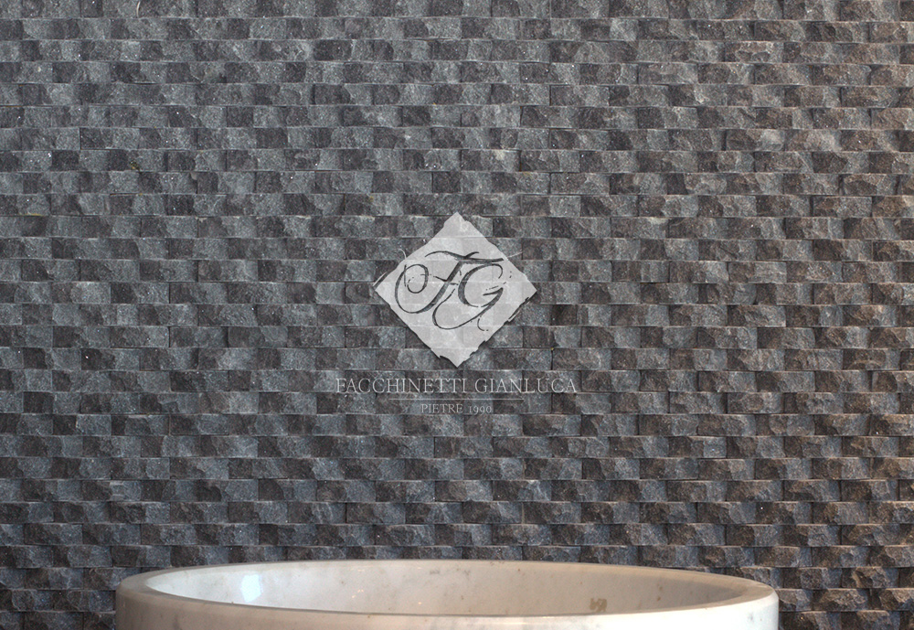 rivestimento in pietra nera mod. ONDE OVAL (2)
